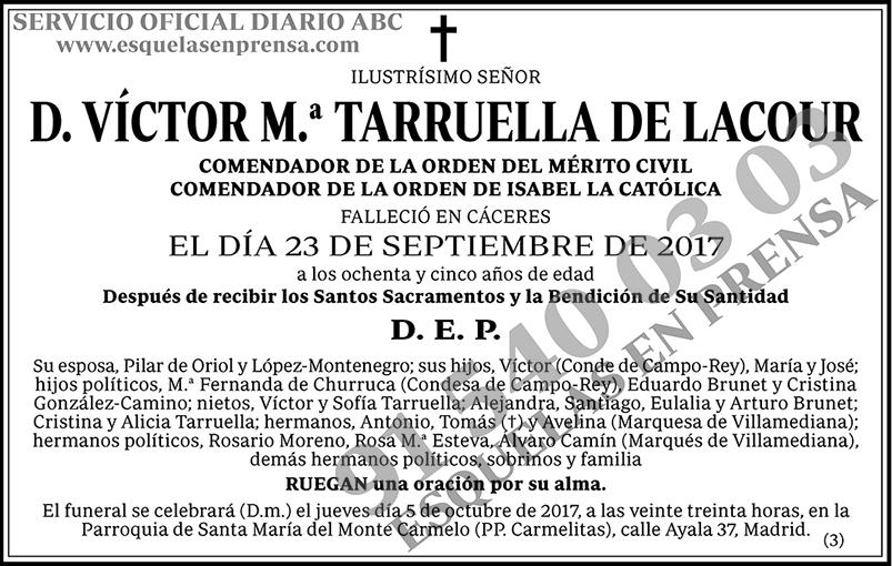 Víctor M.ª Tarruella de Lacour